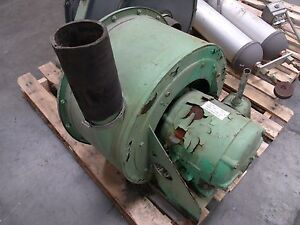 Kemp Spencer Turbo Compressor Size 3 2hp Blower 5 Inlet 3 1 2 Outlet