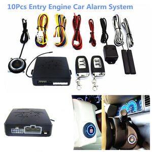 New 10pcs Car Keyless Entry Alarm System Engine Start Push Button Remote Starter