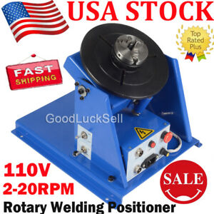 3 Jaw Lathe Chuck 2 20rpm Rotary Welding Welder Positioner Turntable 10kg 110v Y