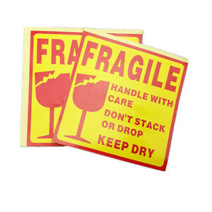 250 Pcs Fragile Shipping Label Sticker fragile Handle With Care Label Sticker