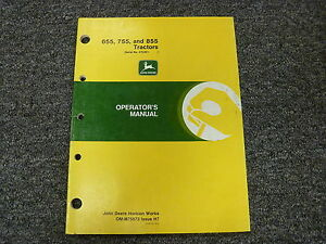 John Deere 655 755 855 Compact Utility Tractor Owner Operator Manual Omm75873