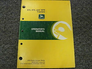 John Deere 870 970 1070 Compact Utility Tractor Owner Operator Manual Omm79651
