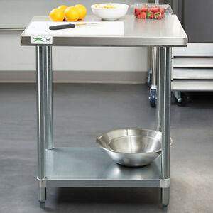 24 X 30 Stainless Steel Work Prep Shelf Table Restaurant Kitchen Commercial