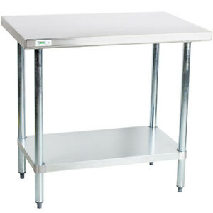 30 X 36 Stainless Steel Work Prep Shelf Table Restaurant Kitchen Commercial