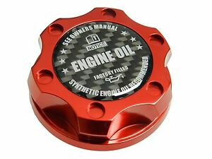 Red Synthetic Billet Racing Engine Oil Filler Cap Fiat 500 Dodge Dart Cf