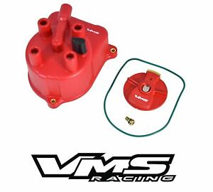 Vms Racing Red Oe Style Distributor Cap Rotor For 92 01 Honda Prelude