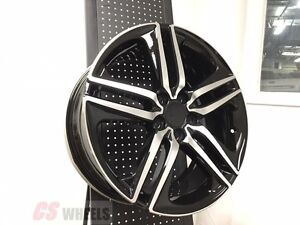 20 Sport Style Fits Honda Accord Sport Civic Si Exl Brand New Black Alloy Wheels
