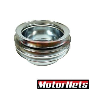 Sbf 64 67 Ford Mustang 289 Chrome Crankshaft Lower Pulley Triple 3 Groove Casmog