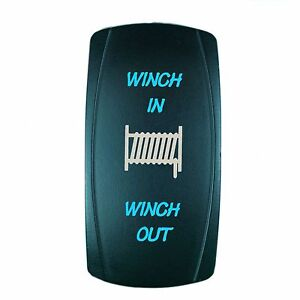Polaris Rzr Xp 1000 Blue Momentary Rocker Switch Laser Etched Led Winch