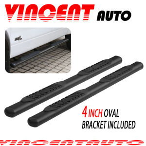 Oval 4 Fit 99 18 Chevy Silverado Double Cab Side Step Running Board Nerf Bar