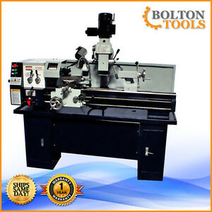 Bolton Tools 12 X 36 Gear Head Metal Lathe Mill Drill Milling Machine At320l