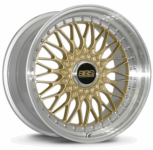 Bbs Rs Gold With Polished Lip 19x9 20 5x120
