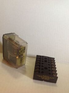 Struthers Dunn Relay 219fxxp W Dunco Wired Relay Base Socket 14 pin 33377