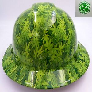 Hard Hat Full Brim Custom Hydro Dipped Osha Approved 420 Camo High Times
