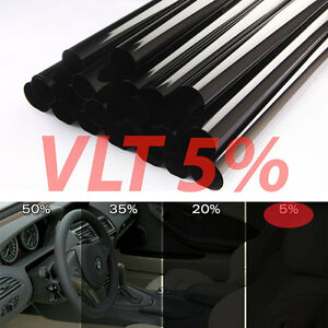 Uncut Window Tint Roll 5 Vlt 25 In 100ft Feet Home Commercial Office Auto Film