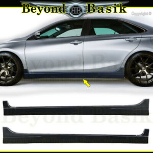 For 2015 2016 2017 Toyota Camry Side Skirts Body Kit 2pc Set Add On Side Skirts