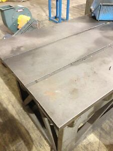 Steel Metalworking Table With T slots