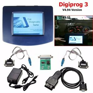 Main Unit Digiprog 3 V4 94 W Obd2 St01 St04 Cable Odometer Correction Tool Usa Y