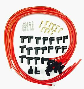 8 5 Mm Spark Plug Wires Hei Distributors 90 Degree Ends Premium Custom Wires Red