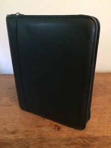 Franklin Covey Classic 7 ring Binder 1 5 Rings Brown Leather Vtg Zip Planner