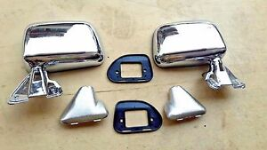 Fit For Toyota Pickup 4runner 2wd 4wd 87 89 Chrome Door Wing Mirror Skin Mount