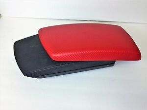 Bmw X3 2004 2010 Armrest center Console Cover red Carbon Fiber