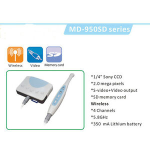 Wireless Intra oral Camera 2 0 Mega Pixels 1 4 Sonny Ccd With Sd Card Md950sd