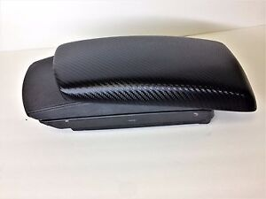 Bmw X3 2004 2010 Armrest center Console Cover black Carbon Fiber