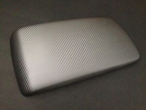 Bmw X3 2004 2010 Armrest center Console Cover gray silver Carbon Fiber