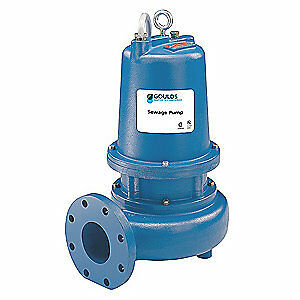 Goulds Water Technology Submersible Sewage Pump 2hp 230v 41 Ft Ws2012d3