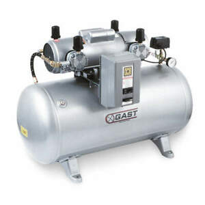 Gast Electric Air Compressor tank Mounted 7hdd 70ta m750x