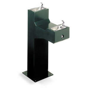 Halsey Taylor Drinking Fountain pedestal Two Level 74047202000 Evergreen