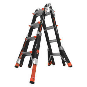 Little Giant Fiberglass Multipurpose Ladder dark Horse 17 Ft 15147 801