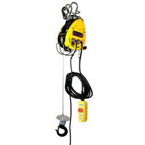 Oz Lifting Products Electric Wire Rope Hoist 500 Lb Obh 500 Yellow