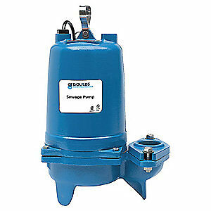 Goulds Water Technology Submersible Sewage Pump 3 4hp 230v 30 Ft Ws0732bf