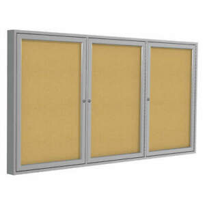 Ghent Enclosed Bulletin Board cork 96x48 In Pa34896k