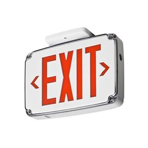 Lithonia Lighting Thermoplastic Led Exit Sign Battery Backup Wlte W 2 R El
