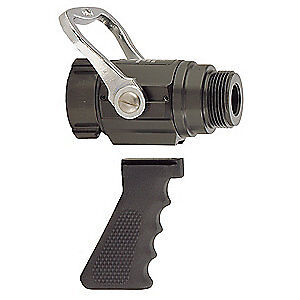 Elkhart Brass Fire Hose Nozzle 1 1 2 In black B 375 gat
