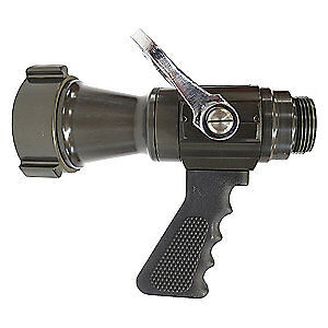 Elkhart Brass Fire Hose Nozzle 2 1 2 In black Db 375 gat