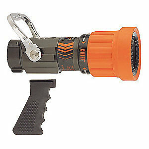 Elkhart Brass Fire Hose Nozzle 1 1 2 In orange 4000 17