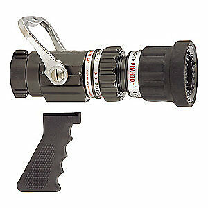 Elkhart Brass Fire Hose Nozzle 1 1 2 In black Sfm hpg