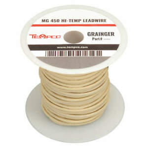 Tempco High Temp Lead Wire 10 Ga max Temp 842 F Ldwr 1045