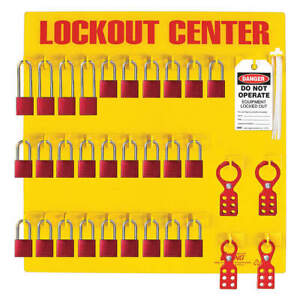 Zing Recycled Petg Lockout Station filled electrical 2729 Yellow