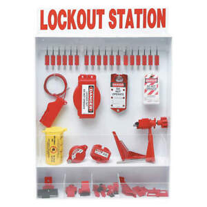 Brady Polystyrene Lockout Station 93 Components 99693 White