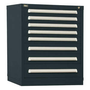 Stanley Vidmar Steel Mod Drawer Cab 37 H 8 Drawer black Scu1904albk Black