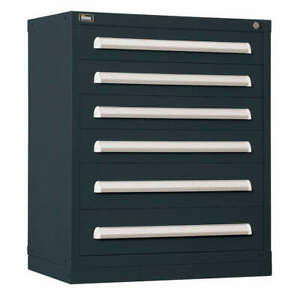 Stanley Vidmar Steel Mod Drawer Cab 37 H 6 Drawer black Scu1910albk Black