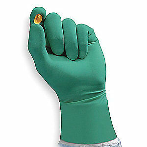 Ansell Cleanroom Gloves neoprene sz 7 1 2 pk200 73 701 Green