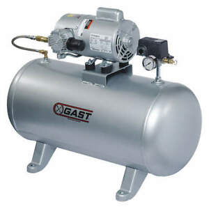 Gast Electric Air Compressor tank Mounted 5hcd 101t m550ngx