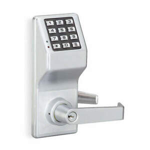 Trilogy By Alarm Lock Electronic Lock satin Chrome 12 Button Dl2700wp Us26d