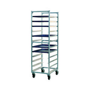 New Age All Welded Aluminum Full Bun Pan Rack end Load 12 Capacity 1333 Silver